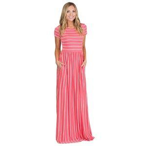 Dresses & Skirts - Brand New Pink & White Stripe Maxi Dress Size M